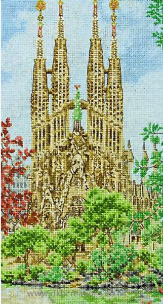 Sagrada Familia Cross Stitch Kit